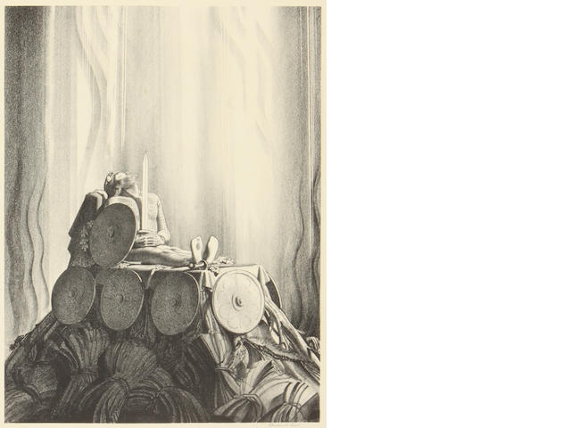 Rockwell Kent (American, 1882-1971); Funeral Pyre, from Beowulf;