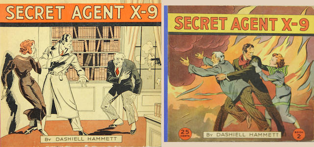 HAMMETT, DASHIELL. 1894-1961. Secret Agent X-9. Philadelphia: David McKay Company, [1934].