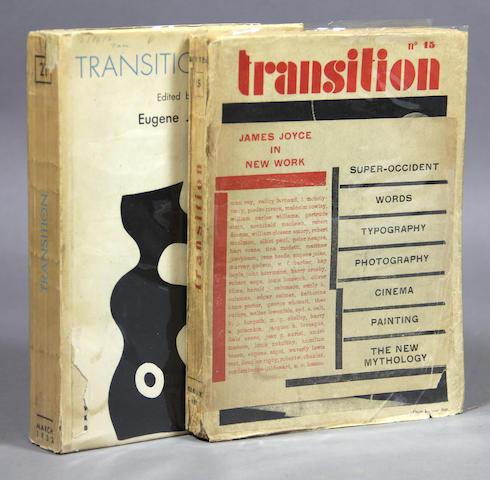 TRANSITION. Transition. Paris: 1927-1938.