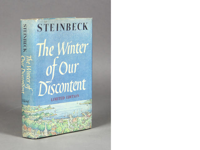 STEINBECK, JOHN.  1902-1968. The Winter of Our Discontent. New York: The Viking Press, 1961.