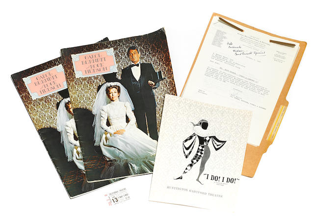 A group of Rock Hudson and Carol Burnett ephemera