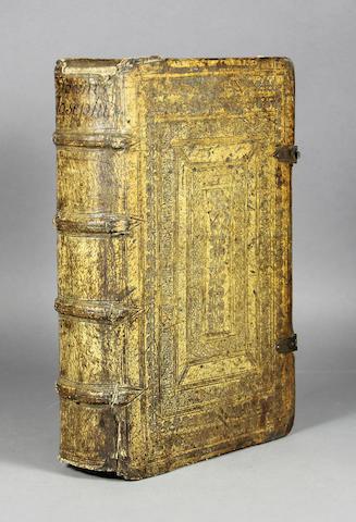 JOSEPHUS, FLAVIUS. 37-C.100. Historien und Buecher: Von Alten Juedischen Geschicten. Frankfurt: Georg Raben & the heirs of Wengand Hanen for Sigmund Feyerabendt, 1571.