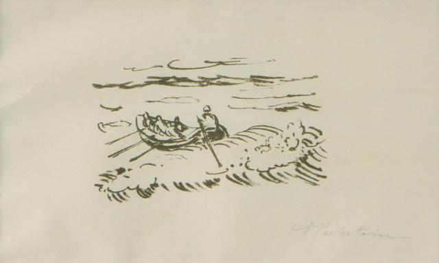 Max Pechstein (German, 1881-1955); 2 Plates, from Reisebilder Italien Südsee; (2)