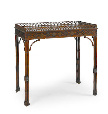 A George III mahogany silver table mid 18th century