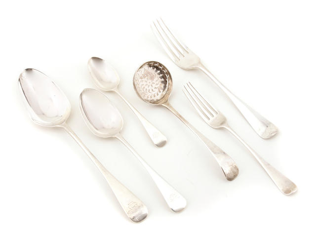 A Victorian  sterling silver  assembled part flatware service George William Adams, London,  1863 - 1870