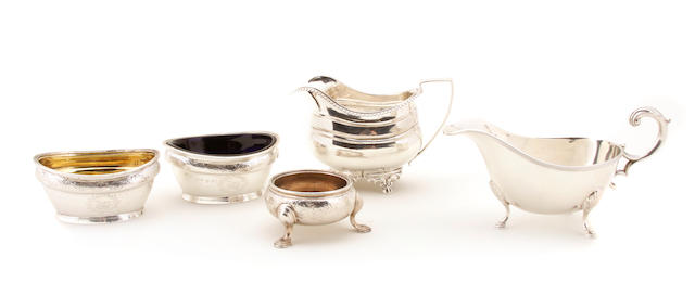A group of English sterling silver hollowware 19th - 20th century