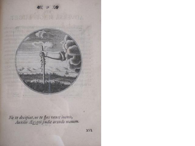 EMBLEM BOOK. BORJA, JUAN DE. Emblemata moralia. Berlin: J.M. Rudiger, 1697.