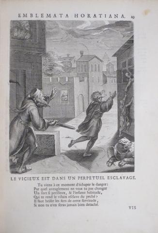 EMBLEM BOOK. VAENIUS, OTTO. Quinti Horatii Flacci emblemata. Brussels: Francis Foppens, 1682.