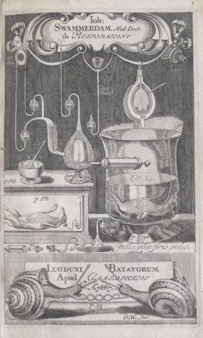 SWAMMERDAM, JAN. 1637-1680. Tractatus physico-anatomico-medicus, de respiratione usuque pulmonum. Leiden: Daniel, Abraham & Adrian a Gaasbeeck, 1667.