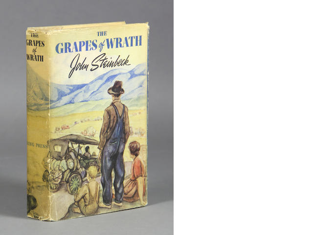 STEINBECK, JOHN. 1902-1968. The Grapes of Wrath. New York: The Viking Press, [1939].
