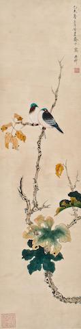 Xie Zhiliu(1910-1997)  Flower&Bird