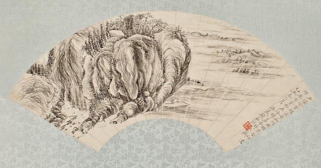 Qian Du (1763-1844)  Ink Landscape, 1805
