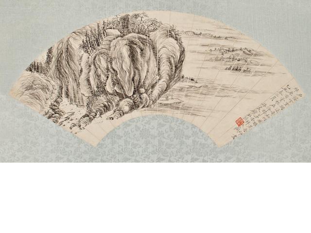 Qian Du (1763-1844)  Ink Landscape