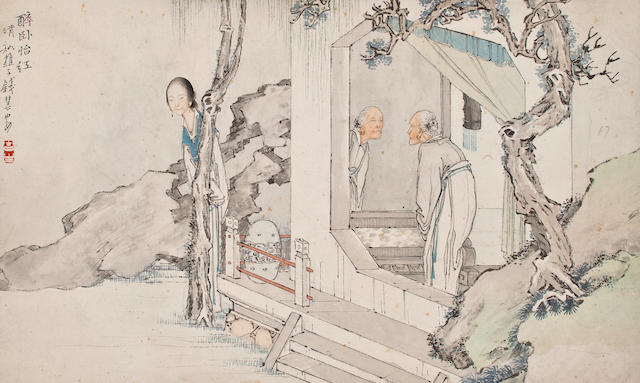 Qian Hui'an(1833-1911)  Figure-Album Leaf