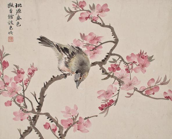 Lu Hui (1908 -) Album Leaf-Flower&Bird