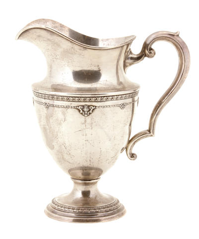 An American sterling silver pitcher The Matthews Company, Newark, NJ, first quarter 20th century