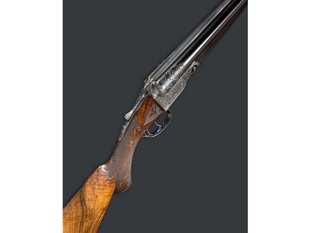 A rare 12 gauge A-1 Special Parker Brothers boxlock shotgun two barrel set