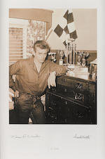 6 pts. of James Dean - All with Dean Foundation Stamp - Signatures of Marcus Winslow & Frank Worth