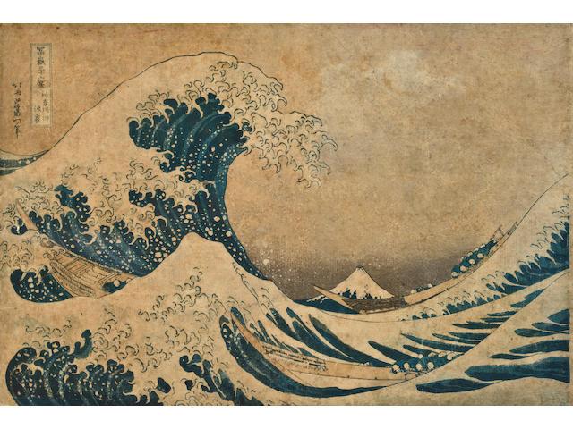 Katsushika Hokusai (1760-1849)  One woodblock print