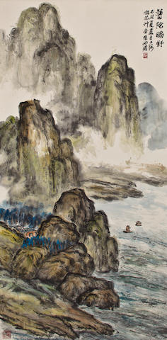 Zhu Qizhan (1892-1996) Wilderness of Putuo, 1985