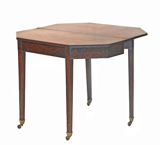 A George III mahogany card table late 18th century