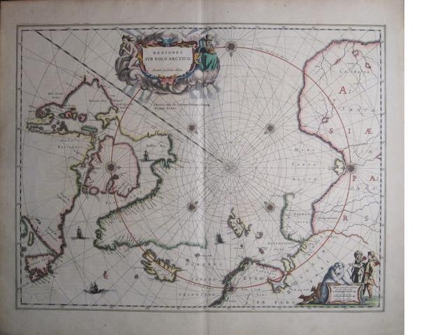 ARCTIC. BLAEU, WILLEM. 1571-1638. Regiones Sub Polo Arctico. [Amsterdam, c. 1635.]<BR />