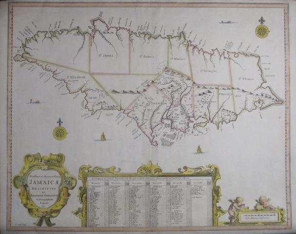 JAMAICA. OGILBY, JOHN. 1600-1676. Novissima et Accuratissima Jamaicae. [London]: 1671.