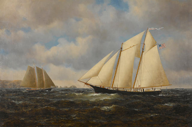 "William Alexander Coulter (1849-1936) ""Emilie"" Pilot Ship #3 24 x 36in"