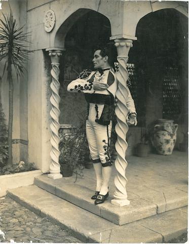 KERTESZ, ANDRE. 1894-1985. Photograph of the ballet dancer Hugh Laing in flamenco attire,