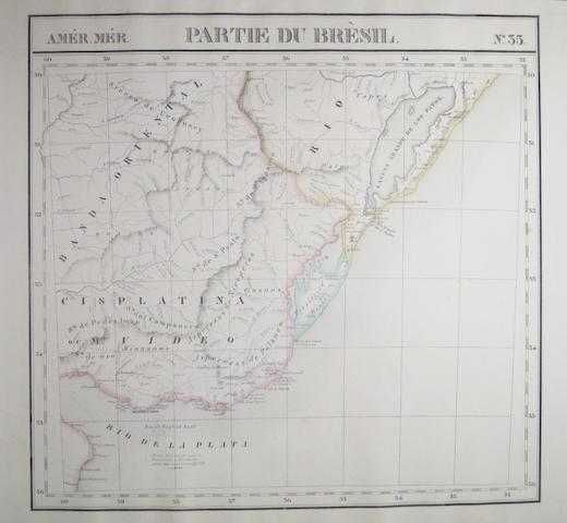 BRAZIL. VANDERMAELEN, P.M.G. Group of 18 lithographed maps of Brazil,