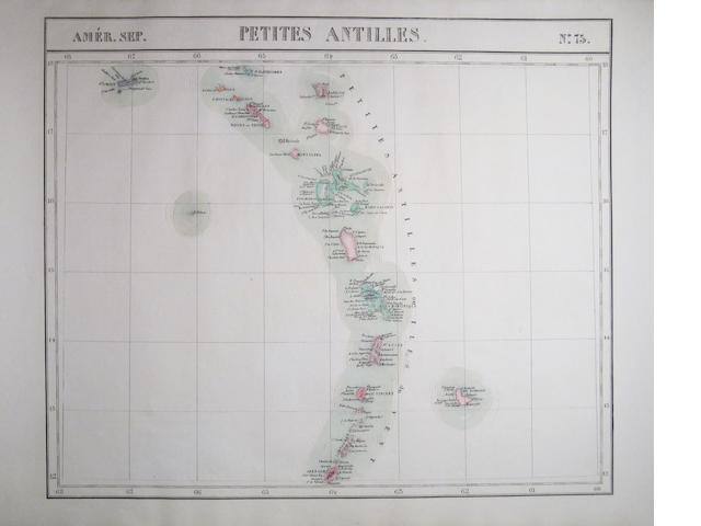 LATIN AMERICA. VANDERMAELEN, P.M.G. Group of 40 lithographed maps of Latin America,