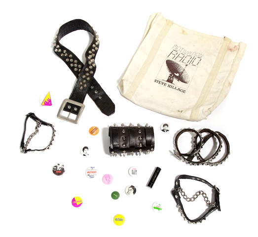 A group of Sid Vicious accessories