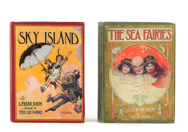 OZ. BAUM, L. FRANK.  The Sea Fairies. [AND:] Sky Island. Chicago: Reilly & Britton, [1911 & 1912].<BR />
