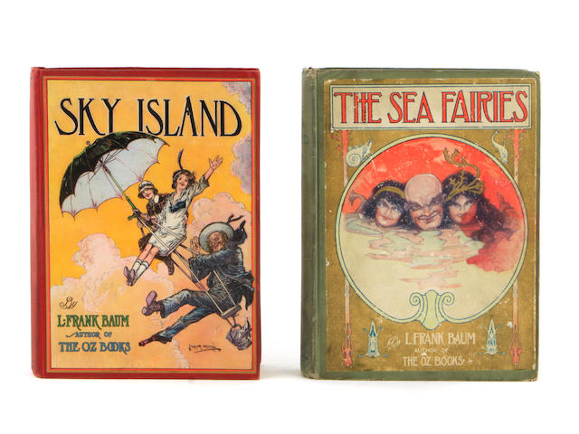 OZ. BAUM, L. FRANK.  The Sea Fairies. [AND:] Sky Island. Chicago: Reilly & Britton, [1911 & 1912].<BR />