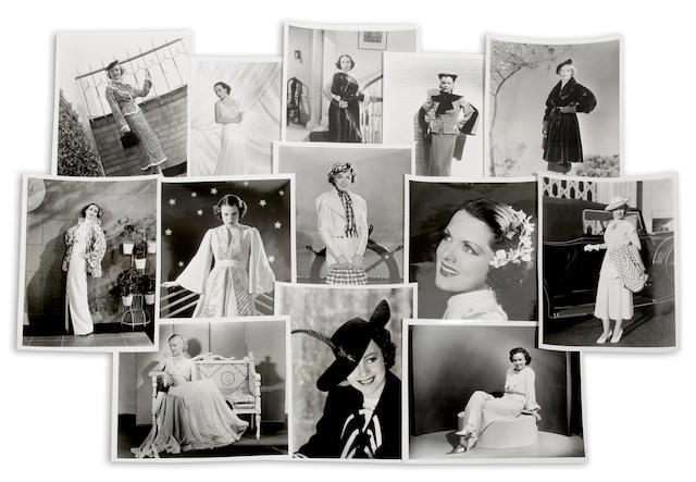 A group of Hollywood fashion photographs