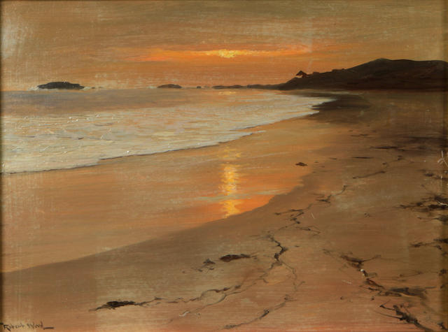Robert Wood (American/British, 1889-1979) Laguna Sunset (from Laguna Hotel) 12 x 16in