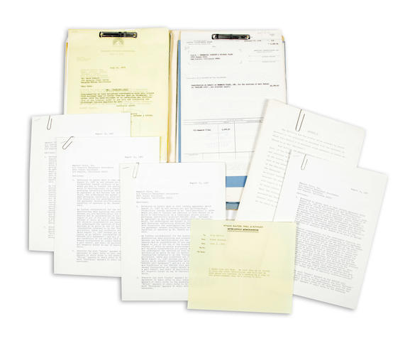 A group of Rock Hudson signed documents relating to Seconds and other films