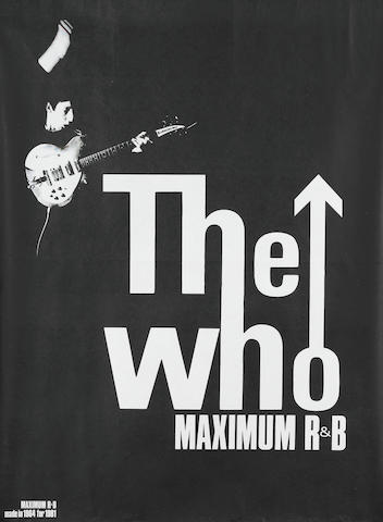 A The Who Maximum R & B from Wembley concert poster