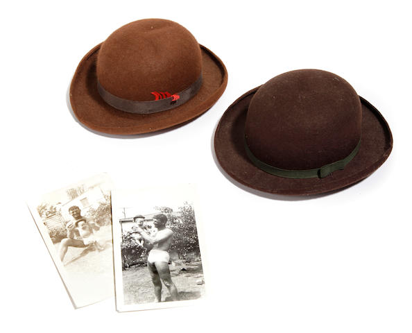 2 early Hollywood Brown Derby souvenir hats