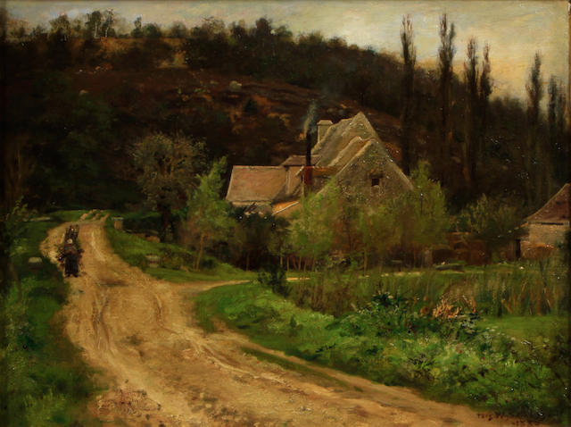 Attributed to Thomas W. Shields (American, born 1849) Mountain Homes 18 1/2 x 23in