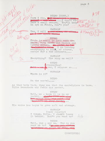 An annotated early draft of The Lord of the Rings