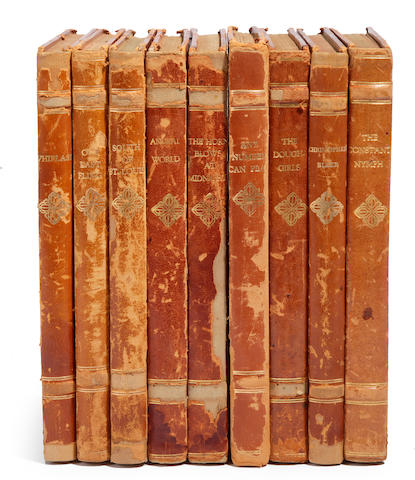 A group of Alexis Smith's personally owned leather-bound scripts