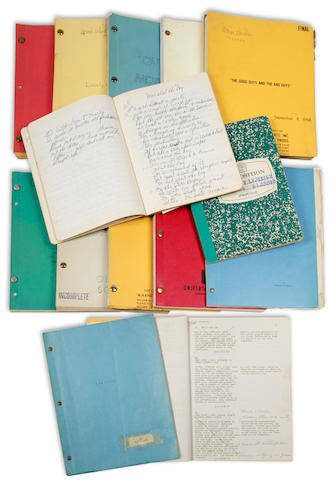 A group of actress Marie Windsor's working scripts