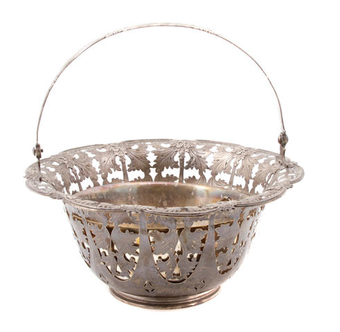 An American sterling silver pierced basket Tiffany & Co., New York, NY, circa 1910