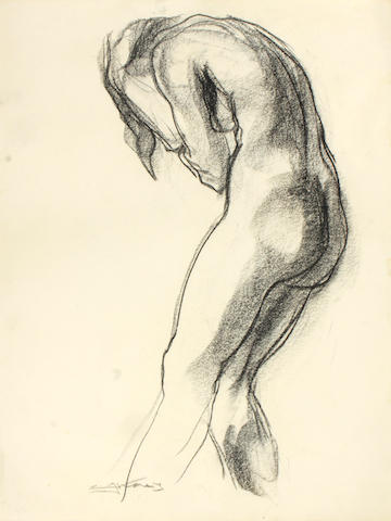 Emil Jean Kosa, Jr. (American, 1903-1968) Nude study 23 3/4 x 18in