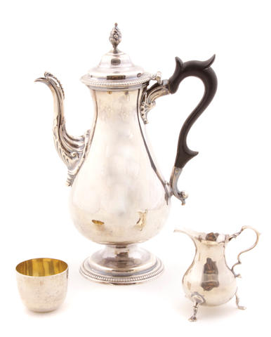 A group of Georgian sterling silver  hollowware Second half 18th century