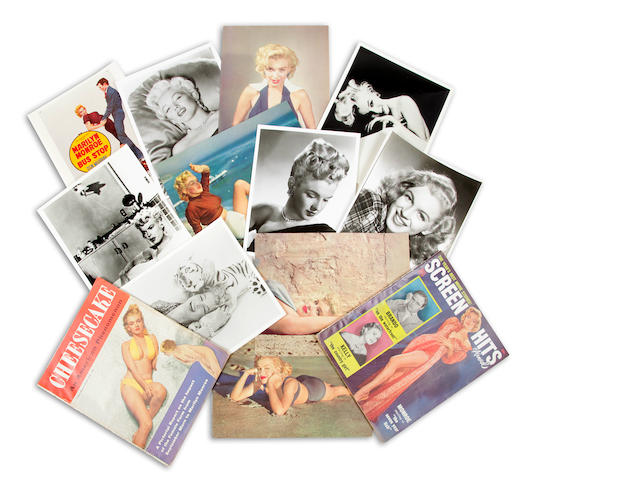 A group of Marilyn Monroe ephemera
