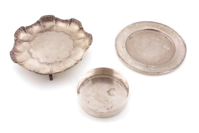 Three pieces of Norwegian silver  hollowware 19th - 20th century