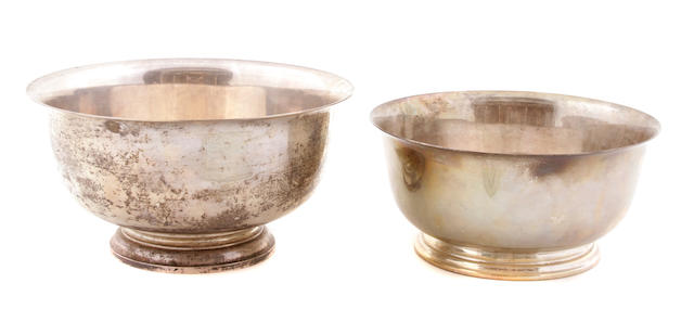 A group of American sterling silver hollowware Late 19th - 20th century