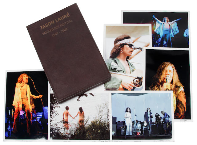 A Jason Lauré portfolio of limited edition signed color photographs from Woodstock, 1969, 2009